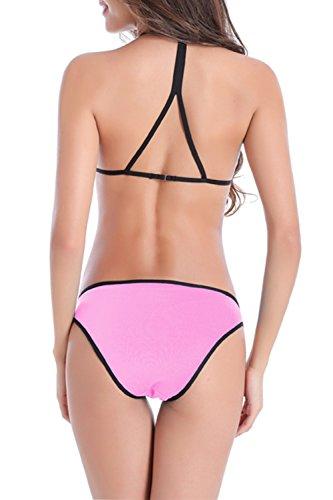 Bikini Pink Halter Donna Set Tankini Yacun R0a5nqAw1