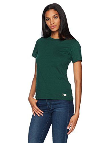 Russell Short Sleeve Tee (Russell Athletic Women's Essential Short Sleeve Tee, Dark Green, M)