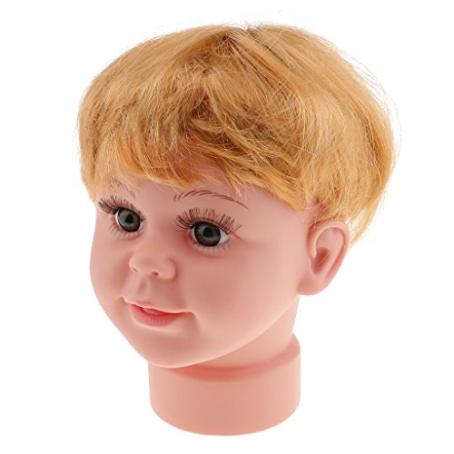 Jili Online Plastic Baby Boy Mannequin Manikin Head with Wig Kids Child Sunglasses Hat Display Stand Tool for Salon - Online Sunglass Store