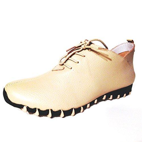 Beige Solid Foot Leather Lit LF9010 Shoe Women's wxgYpYnXqH