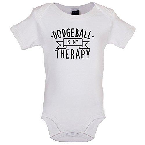dressdown-dodgeball-is-my-therapy-babygrow-bodysuit-white-0-3-months