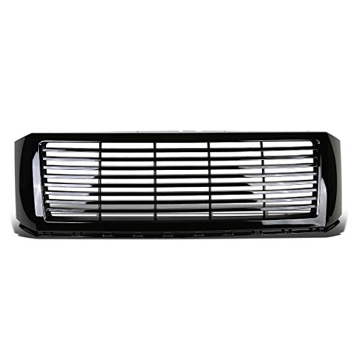(For Ford Expedition U324 Glossy Black ABS Billet Style Front Bumper Grill)