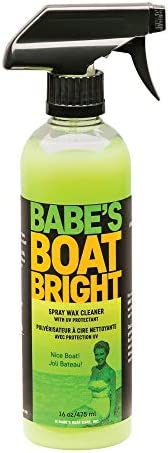 BABE'S Boat Bright Spray Wax Cleaner - Environmentally Safe, Non-Abrasive Cleaner and Light Wax for Gelcoa