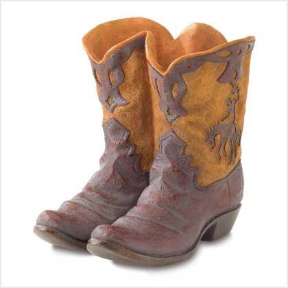 Gifts & Decor Western Theme Garden Decor Cowboy Boot Planter Outdoor]()