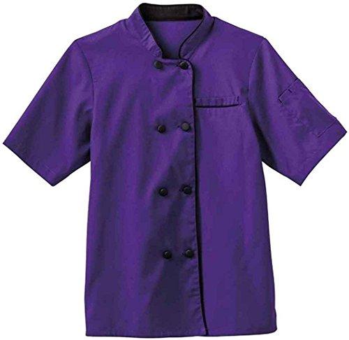 Jacket Chefs Executive (Five Star 18028 Ladies Short Sleeve Executive Coat (Purple, XXX-Large))