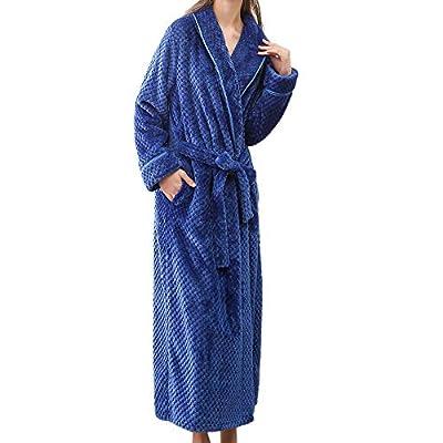 Men Women Lovers Winter Robe Lengthened Bathrobe Home Sleepwear Shawl Robe