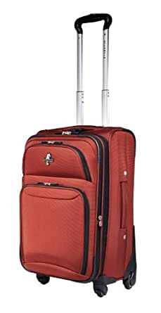 """Atlantic Compass 21"""" Expandable Carry-On Spinner Suiter,Ruby,One Size"""