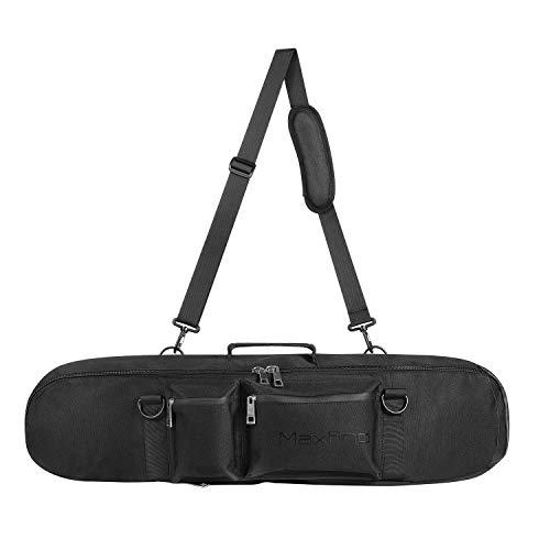77b56ce311ca Maxfind Waterproof Skateboard Oxford Fabric PVC Backpack Cruiser Carry Bag  Handy Handbag for 27inch Skateboard