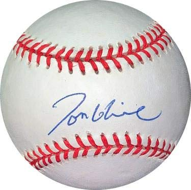(Autographed Tom Glavine Ball - RONL Rawlings Official National League Hologram #EE41647) - JSA Certified)