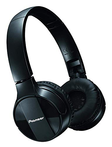 Pioneer Bluetooth Lightweight On Ear Wireless Stereo Headphones, Black SE-MJ553BT(K)
