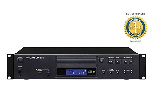 Best Prices! Tascam CD-200 Professional CD Player with 1 Year Free Extended Warranty