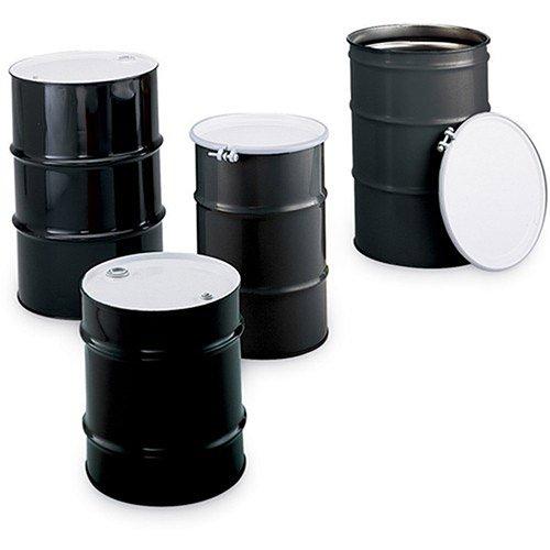 Skolnik Carbon Steel Drums - Closed-Head Drums - 10-Gal. Capacity - Black