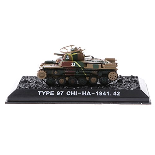 DYNWAVE Models 1/72 Scale Japanese Type 97 Chi-Ha (1941) - Japanese Army Main Battle Tank Toy Model Display Collectible (Japanese Tank Medium)