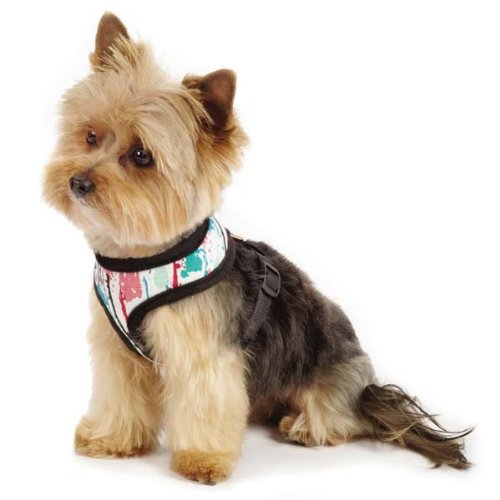M. Isaac Mizrahi Paint Splatter Dog Harness, Medium