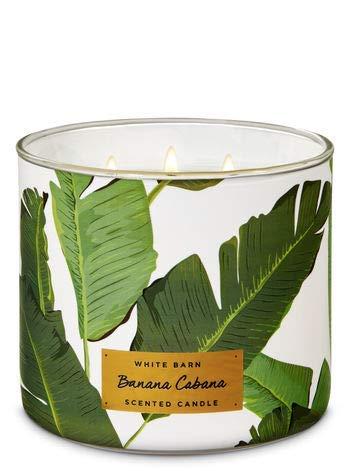 Bath and Body Works White Barn Banana Cabana 3 Wick Candle 14.5 ounce Full Size
