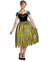 Disguise Women's Frozen Anna Coronation Deluxe Costume