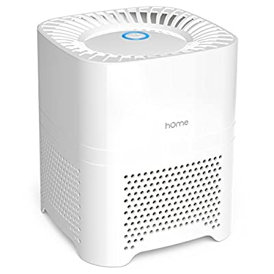 hOme Ionic Air Purifier HEPA Filter for Allergies - Portable 3 in 1 Air Purifier with UV-C Sanitizer Odor Allergen Reduction - Air Cleaning System for Desktop or Small Rooms 50 sq ft Coverage