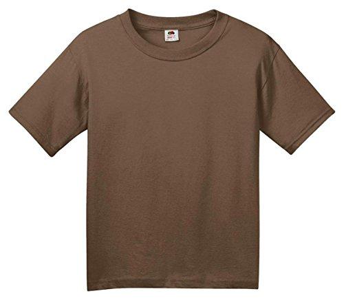 FOL 3930B Youth Heavy Cotton T-Shirt, Chocolate, (Chocolate Heavy Cotton T-shirt)