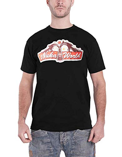 Fallout T Shirt 76 Nuka World Official Ps4 Xbox Mens Black Size XL ()