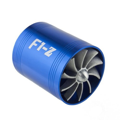Wadoy F1-Z Double Supercharger Turbine Turbo charger Air Intake Fuel Saver Fan: