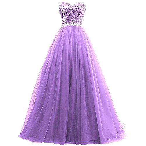 Da Byjia Sequins Femminili Di Sera Banchetto Purple Lungo Dresses D'onore Damigella Partito Abito Abiti Nozze oEWQCdrxBe