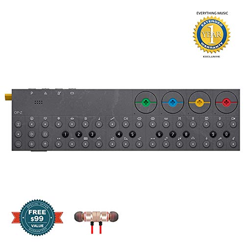 - Teenage engineering OP-Z Synthesizer and Multimedia Sequencer Includes Free Wireless Earbuds - Stereo Bluetooth In-ear and 1 Year Everything Music Extended Warranty