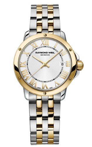 Raymond Weil Tango White Dial Two Tone Stainless Steel Ladies Watch 5391-STP-00308