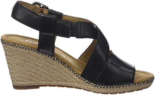 Gabor Shoes Women's Comfort Sport Ankle Strap Sandals Black (Blackjute/Naht) shop for sale online low shipping fee online Shop free shipping shop offer R5aDWp0SBg