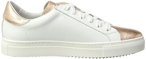 Stokton Signore Della Scarpa Da Tennis Più Colore (bianco / Oro Rosa)