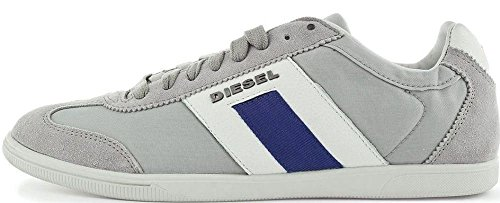 Diesel Happy Hours Vintagy Lounge Gris Hombres Ante Azul Trainers Zapatos
