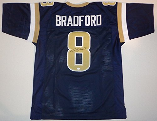 Sam Bradford - Hand Signed Jersey Authentic Autographed Auto W/ JSA COA - Rams