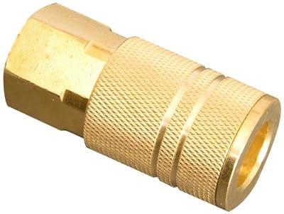 """Apache 51040811 3/8"""" x 1/4"""" Female Pipe Thread Industrial/Milton (I/M) Air Coupler"""
