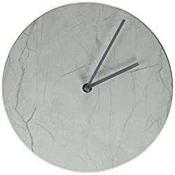 Marble dial look wall clock