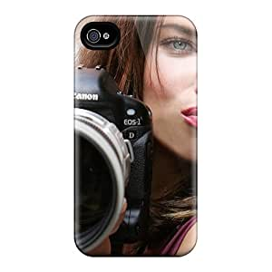 For Iphone 4/4s Tpu Phone Case Cover(female Celebrities Adriana Lima)