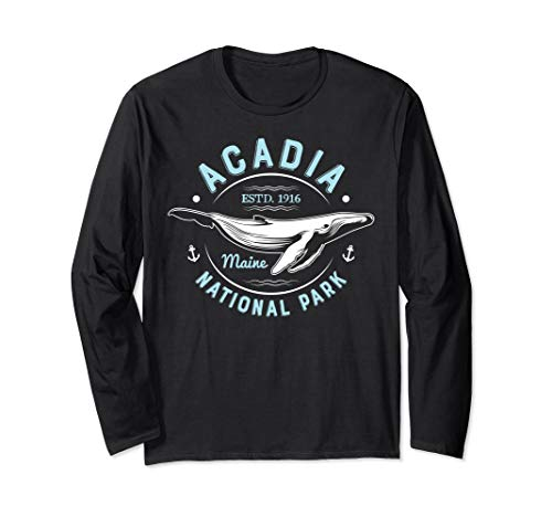 Acadia National Park T Shirt Maine Vintage Whale Watching