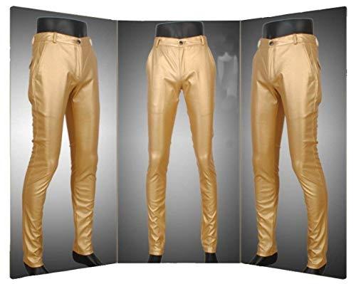 Pelle Di Slim Tubo Sintetica Marca A In Da Jeans Pantaloni Vita Bassa Skinny Mode Gold Ts003de Uomo wTUR5xAq
