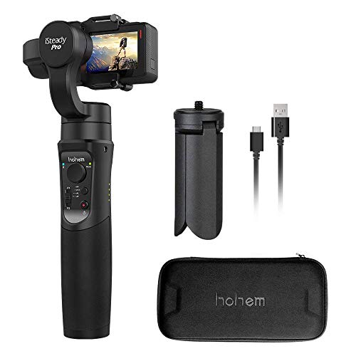 Hohem Gopro Gimbal iSteady Pro 3-Axis Stabilizer Handheld Action Camera for Gopro Hero 7/6/5/4/3 DJI osmo Action Yi Cam 4K, AEE, SJCAM Sports Cams APP Controls for Time-Lapse, Tracking, Auto Panoramas
