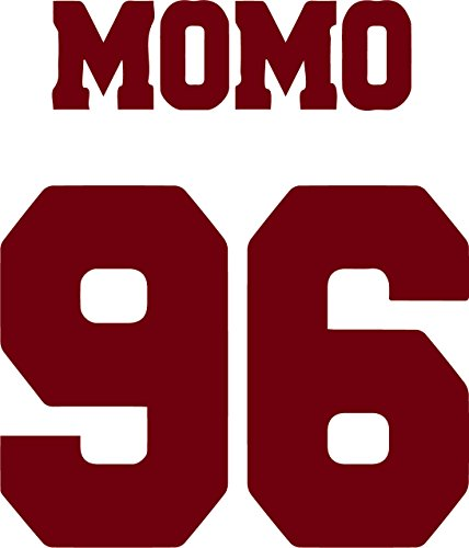 Momo Super Cup - ANGDEST Hallyu Kpop Momo Twice (BURGUNDY) (set of 2) Premium Waterproof Vinyl Decal Stickers for Laptop Phone Accessory Helmet Car Window Bumper Mug Tuber Cup Door Wall Decoration