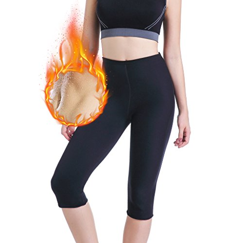 LYTOPTOP Womens Hot Sweat Pants Neoprene Slimming Thermo Yoga Legging for Weight Loss Fat Burner Capris ... (XX X-Large)