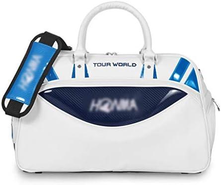 多機能ユニセックスハンドバッグポータブル軽量ゴルフ服バッグ靴セパレートスペース防水性と耐久性のあるブラック、ブルー、レッド46×25×48センチメートル HMMSP (Color : Blue)