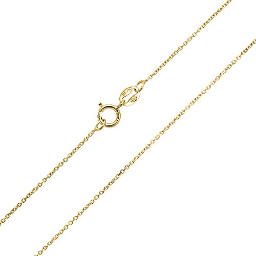 Gold Plated Diamond Cut 20 Gauge Cable Chain 18 Inches - 18 Gauge Gold Plated