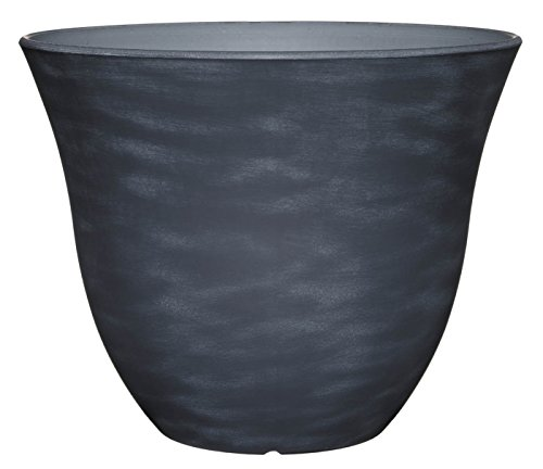 "Honeysuckle Planter, Patio Pot, 15""  Zinc"