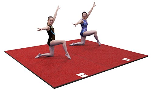 Dollamur 10'x10'x1 3/8'' Flexi-Roll Flexi-Connect Cheer Gymnastics Mat Red by Dollamur (Image #2)