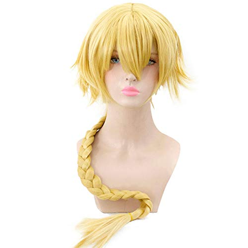 HSIU NEW Jeanne d'Arc Golden Cosplay Wig Fate/Grand Order Costume Play Wigs Halloween Costumes Hair. (Jeanne d'Arc ()