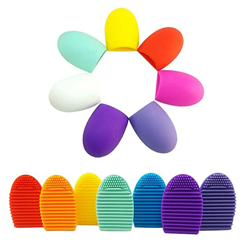 Silicone Makeup Brush Cleaning Washing Tools Cosmetics Makeup Brushes Scrubber Board Washing Cosmetic Brush Cleaner (Crystal Dollar Faceplate)