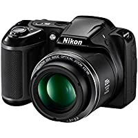 Nikon Coolpix L340 20.2 MP Point And Shoot Digital Camera with 28x Optical Zoom, 16 GB Card and Camera Bag (Black)