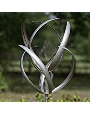 Creekwood 48051 Hampton Wind Sculpture Spinner 190cm Height-Silver, 56 x 56 x 208 cm