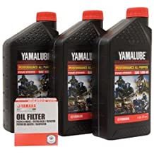 Yamalube Oil Change Kit 10W-40 for Yamaha GRIZZLY 700 4x4 2007-2015