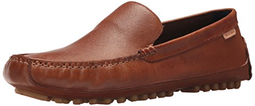 Cole Haan Mens Coburn Venetian Driver II Loafer British Tan Textured Leather