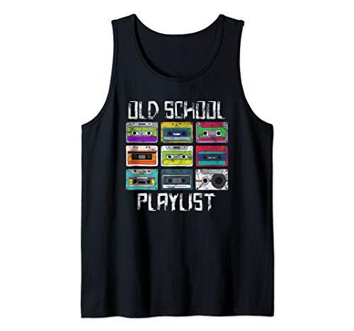 Cassette Tape Music Retro 80s 90s Old School Playlist Tank Top